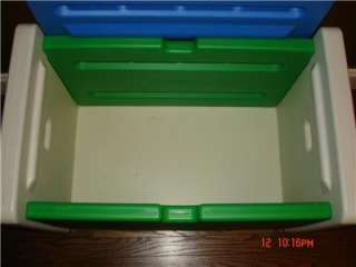 Little Tikes Blue Green and white Toy Box storage