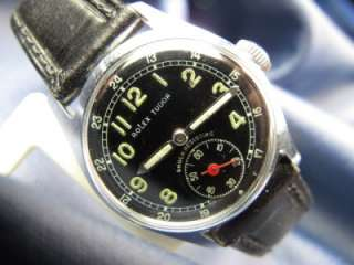 Black Military 12 & 24 Hr Dial 30mm Boy Size Sub Seconds #16
