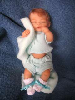 OOAK polymer clay 4 1/2 BABY by Hippensteel 3 Day Auction