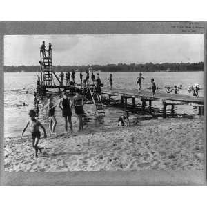 Bathing scene at Beachwood Club,Toms River,Ocean County