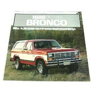 1986 86 Ford BRONCO Truck SUV BROCHURE XLT Eddie Bauer