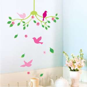 Flower Chandelier Home Decor DIY Wall Sticker Removable