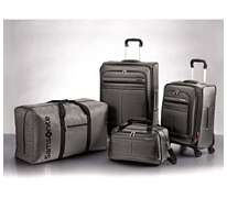 Piece Spinner Suitcase Luggage Set   Silver Duffle Boarding Bag