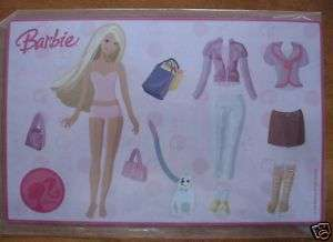 NEW Barbie Doll Dress Up Magnet Set