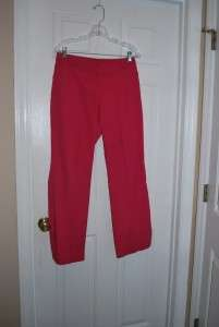 Barco Juniors Pink Scrub Pants w/ Pockets Zip Closure Slit Leg Size M