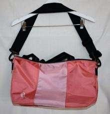 Timbuk2 Pink Striped Cargo Tote Bag 10X18