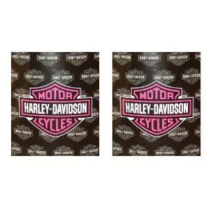 Harley Davidson Motorcycles Logo with Repeat of Logo in