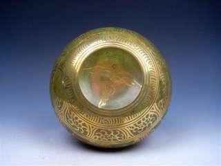 Tibetan Green Glaze Gold Gilt Large Chakra Singing Bowl