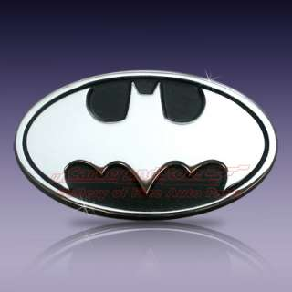 Batman Logo Chrome Metal Car Emblem, Brand New Licensed Product + Free