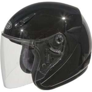 G Max GM17 SPC Open Face Motorcycle/Scooter Helmet Black