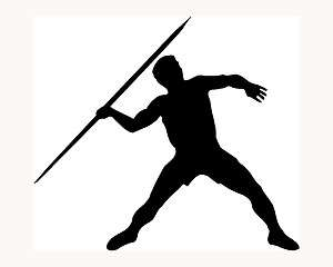 Javelin Throw Sticker Car Window Decal Toss Olympic Sports Spear Vinyl
