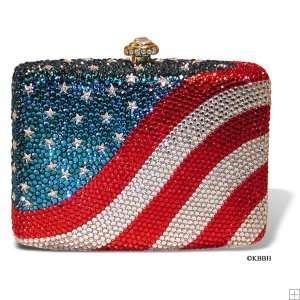 Katherine Baumann Design Convex American Flag Evening Handbag