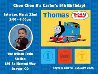 Set of 2 Thomas the Train Birthday Invitations