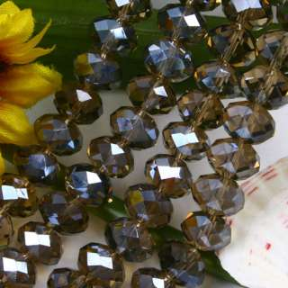 7x10mm Crystal Glass Faceted Rondelle Loose Beads 40pcs