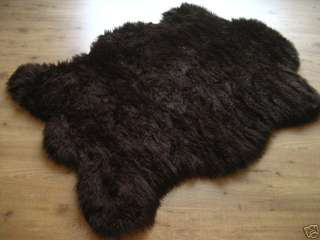 CLASSIC BROWN BEAR BEARSKIN FAUX FUR RUG 3x5 NEW!