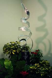 Large Modern Abstract Metal Art Decor Outdoor Sculpture Silver Sea
