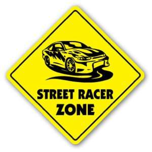 STREET RACER ZONE Sign xing gift novelty drag racing stock