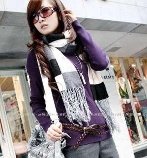 Korea Double Wrap Knit Skinny Leather Belt DARK BROWN