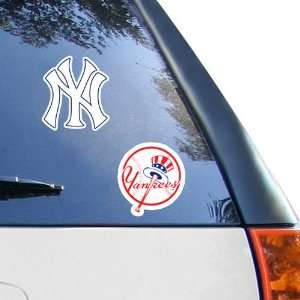 MLB New York Yankees 2 Pack 4 x 4 Die Cut Decals