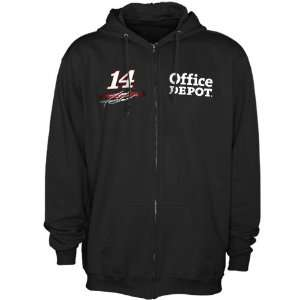 Checkered Flag Tony Stewart Black Finish Line Full Zip Hoodie