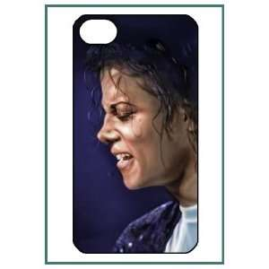Michael Jackson MJ Pop Star iPhone 4 iPhone4 Black Designer Hard Case