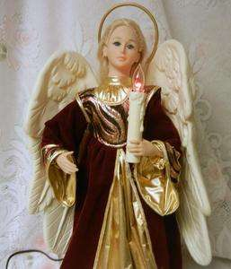 Holiday Creations Animated Electric Christmas Angel Figure Music