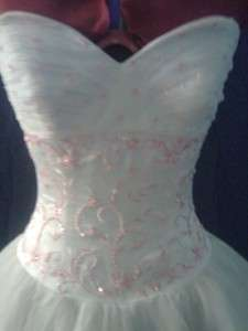 ELEGANT ALLURE BRIDAL WEDDING DRESS GOWN SZ 8  STUNNING