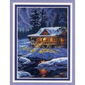 Moonlit Cabin Kit (cross stitch): Arts, Crafts & Sewing