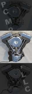 127 CI BLACK & CHROME FINISH ENGINE MOTOR EVO HARLEY S&S CYCLE ULTIMA