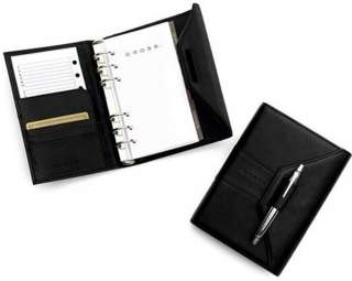 Cross Pebbled black Leather Personal Agenda with Pen