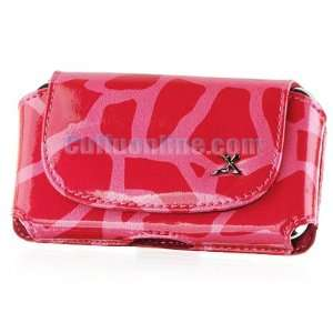 Cuffu Luxury Leather Case   Pink Giraffe   For BLACKBERRY 8900 / 8300