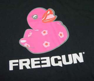 NEW FREEGUN PINK RUBBER DUCK T SHIRT Mens L Pink Stitch