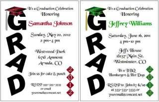 GRAD cap tassel tassle 2012 Personalized Party Invitations
