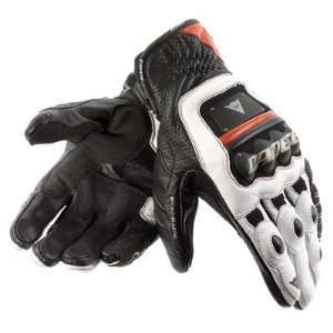 Dainese 4 Stroke Motorcycle Gloves Large Black/White/Red