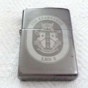 BIB Black USS Kearsage LHD 3 Zippo Lighter