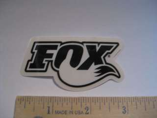 FOX RACING SHOX Black MOTO Bike   Bicycle DECAL STICKER