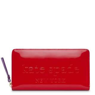 New Kate Spade Big Apple Neda Wallet Clutch Gifting pink And Cherry