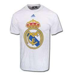 adidas REAL MADRID Big BADGE SOCCER 2011 SS Fan Shirt LARGE