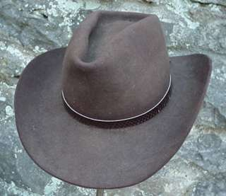 WESTERN HATBAND Hat Band BROWN SNAKE SKIN W TIES NEW