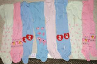 Big Lot NEW Girls Thick Tights 4T   5T Colorful Spring Tights