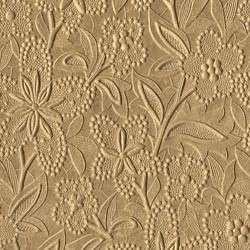 Daisy Lace Metallic Paper   Gold   Large Sheets