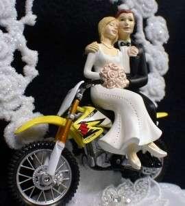 Suzuki Dirt Track Bike racing off road Wedding Cake Topper Motorcycle