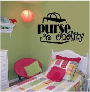 Purse onality Teen Girl Room Wall Decal Words Decor Art