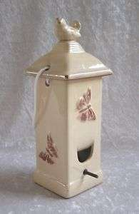 Decorative Butterfly Hanging Garden Seed Bird Feeder Removable Cover