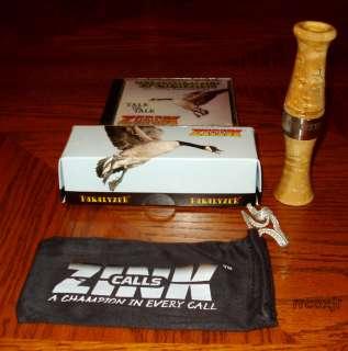 ZINK CALLS SR 1 PARALYZER GOOSE CALL BIRDSEYE MAPLE WOOD NEW