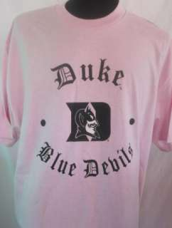 DUKE BLUE DEVILS Mens Pink T Shirt NWT