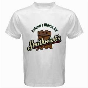 Smithwicks Beer Logo New White T Shirt Size  S, M ,L , XL , 2XL , 3XL