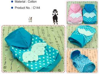 Dog & Cat Clothes,Angel Wing Costume Jacket,Polka Dots Hoodie Shirts