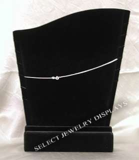 Black Velvet Necklace Chains Jewelry Display Stand 11