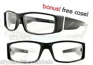NEW Clear Lens Biker Motorcycle Glasses Sunglasses Black Frame Locs X